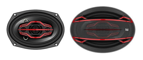 Dual Electronics DLS694 4-Way 6 x 9 inch Car Speakers with 200 Watt Power & 58mm Mylar Balanced Dome Midrange