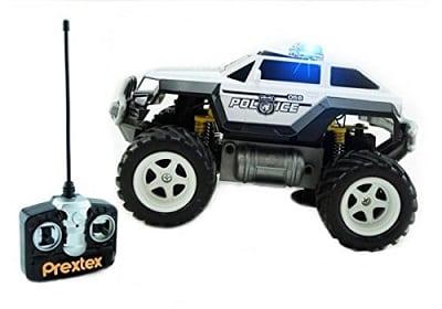 Prextex Remote Control Monster Police Truck Radio Control Police Car toys
