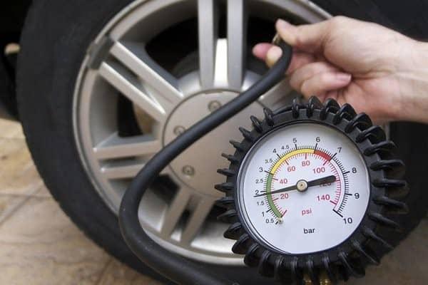 Tire gauge pressure