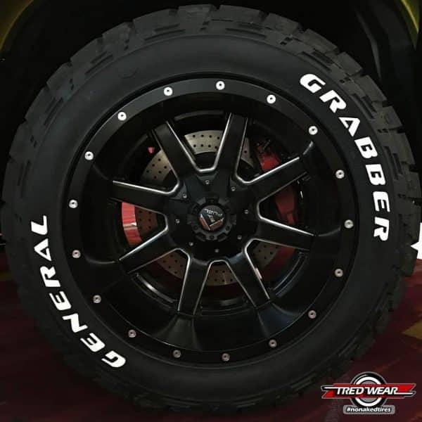White-letter tires