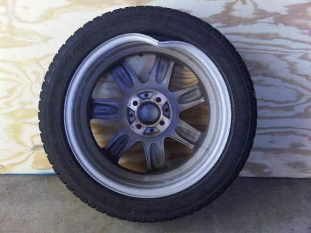 Bent wheel release air