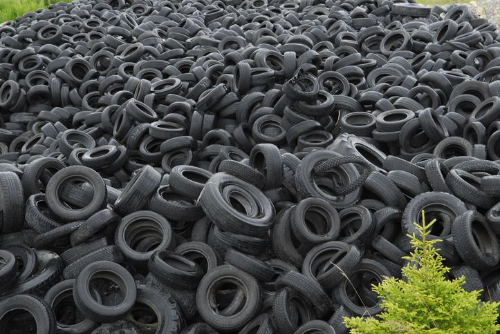 Figure 1. Old tires can badly impact to the environment.