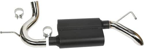Rugged Ridge Heavy-Duty Axle-Back Muffler Kit
